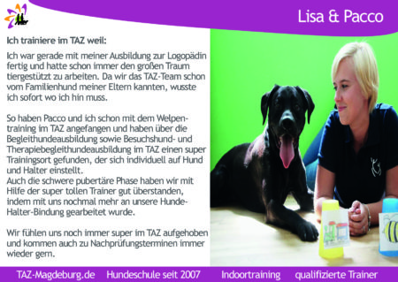 Therapiehund Pacco Hundeschule Magdeburg